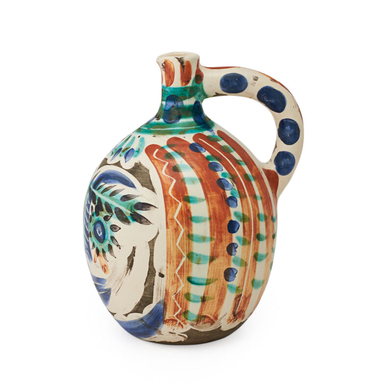 Pablo Picasso, 'Laughing-Eyed Face (Visage aux Yeux Rieurs)', 1969, Sculpture, Large earthenware pitcher with glazed, incised, and engobe decoration, Rago/Wright