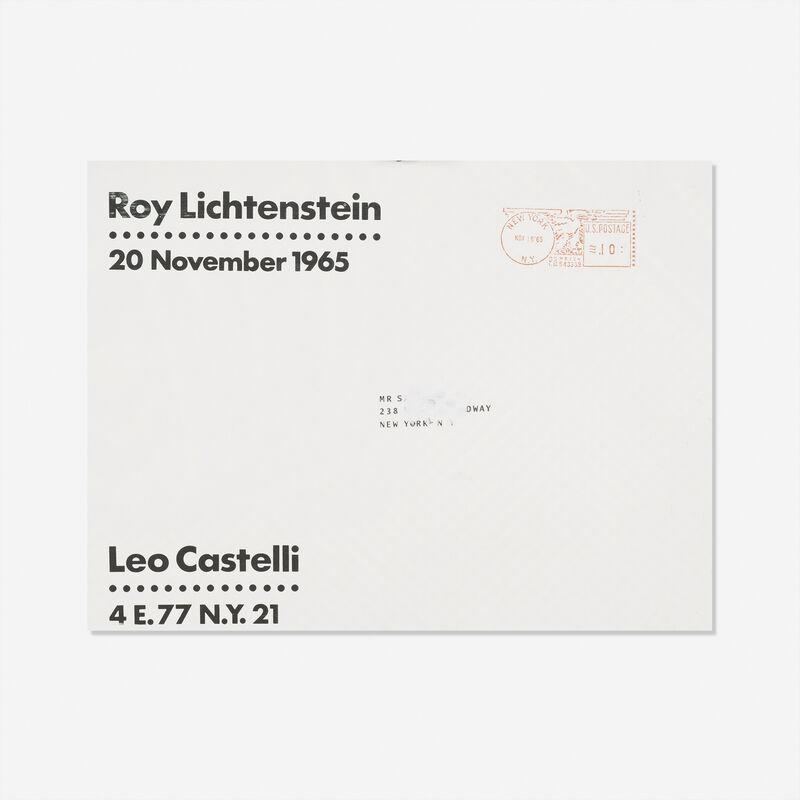 Roy Lichtenstein, 'Brushstroke', 1965, Print, Offset lithograph in colors (mailer), Rago/Wright