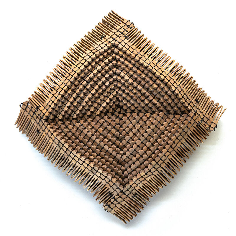 Karyl Sisson, 'Large Shallow Bowl', 1987, Sculpture, Wood clothspins and wire, browngrotta arts