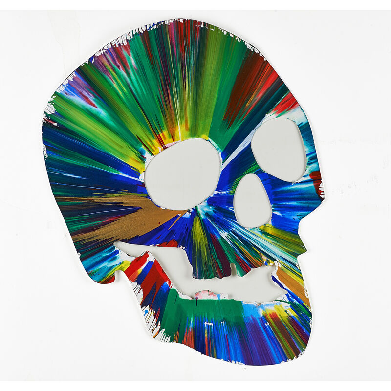 Damien Hirst, 'Skull Spin Painting (Created at  Damien Hirst Spin Workshop)', 2009, Acrylic on paper, Rago/Wright