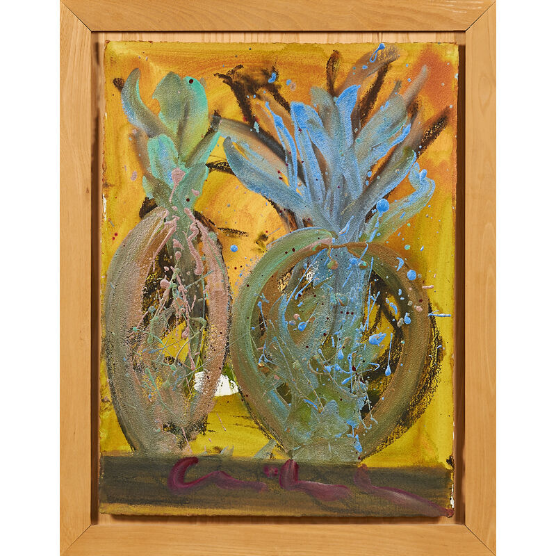 Dale Chihuly, 'Untitled painting, Seattle, WA (framed)', Painting, Acrylic and metallic paint on paper, Rago/Wright/LAMA
