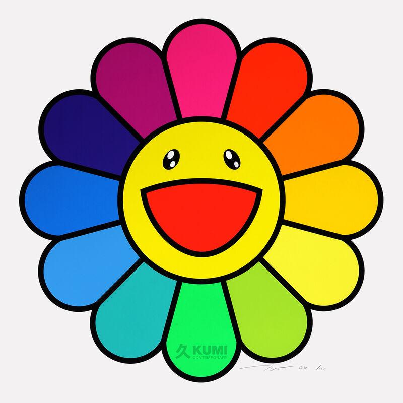 Takashi Murakami, 'Smile On, Rainbow Flower!!', 2020, Print, Silkscreen, Kumi Contemporary / Verso Contemporary