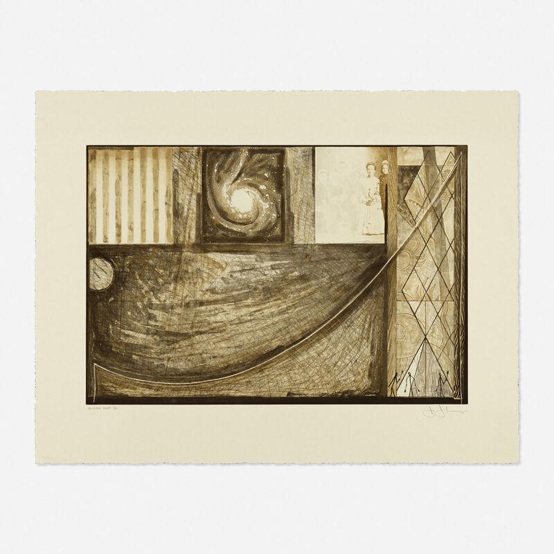 Jasper Johns, 'Untitled', 2001, Print, Etching in two colors on Tokusuki Torinoko paper, Rago/Wright/LAMA