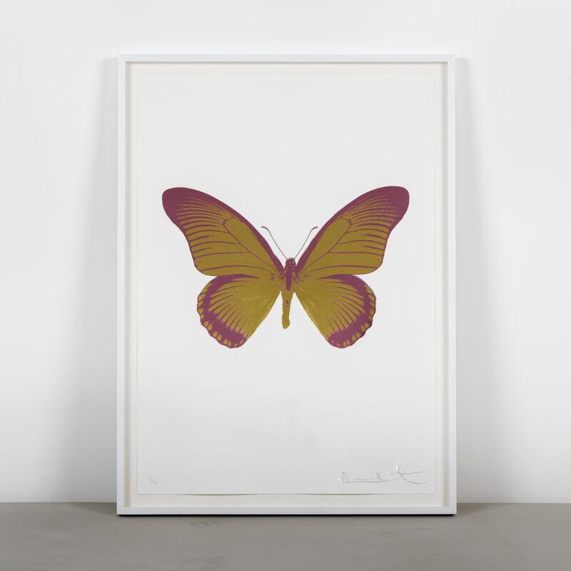 Damien Hirst, 'The Souls IV - Oriental Gold - Loganberry Pink', 2010, Print, Two Colour Foil Block Print, Samuel Owen Gallery