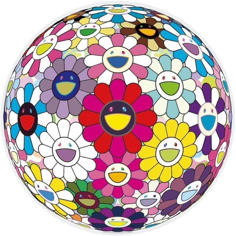 Takashi Murakami, 'Flowerball (Open Your Hands Wide)', 2015, Print, Offset lithograph, Lougher Contemporary
