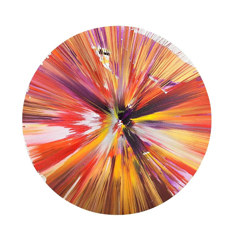 Damien Hirst, 'Circle Spin Painting (Created at Damien Hirst Spin Workshop)', 2009, Drawing, Collage or other Work on Paper, Acrylic on paper, Rago/Wright
