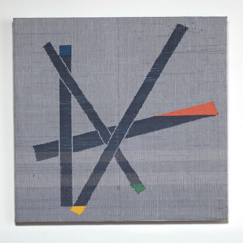 Ethel Stein, 'Angled Contructions', 2012, Textile Arts, Mercerized cotton, damask, ikat weft, browngrotta arts