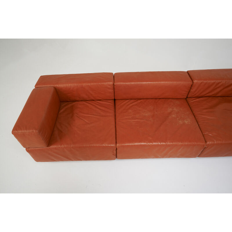 Harvey Probber, 'Large L-Shaped Modular Cubo Sofa, USA', 1960s-70s, Design/Decorative Art, Leather, Enameled Steel, Rago/Wright