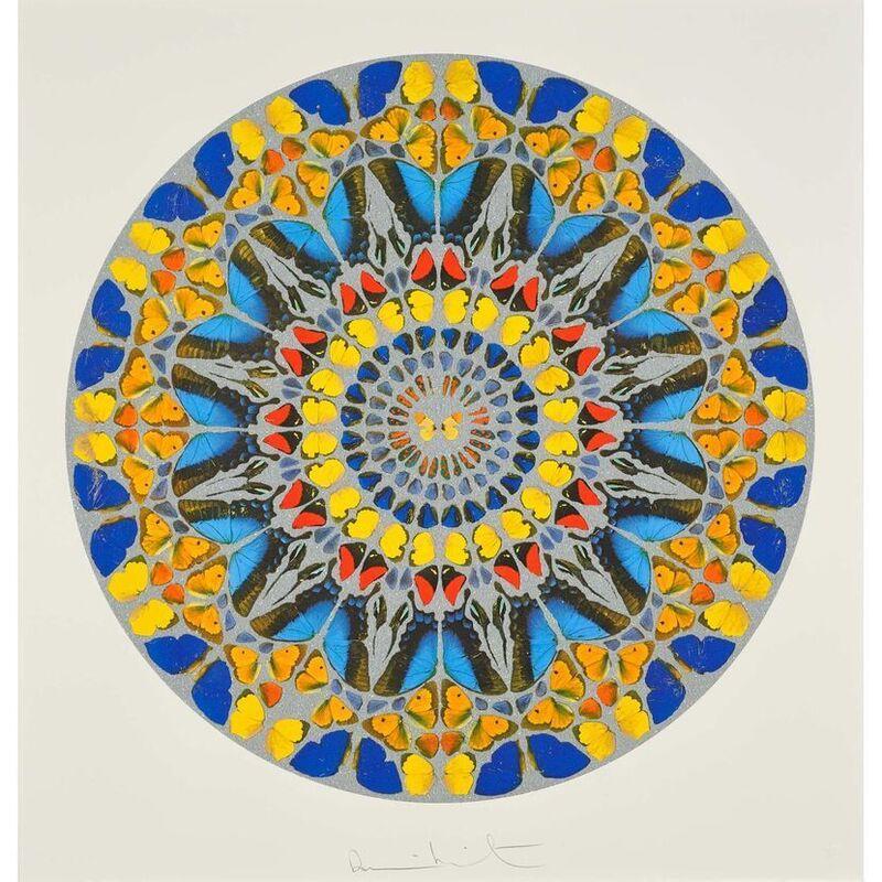 Damien Hirst, 'Psalm: Confitebor Tibi (with Diamond Dust)', 2010, Print, Silkscreen with Diamond Dust, Weng Contemporary
