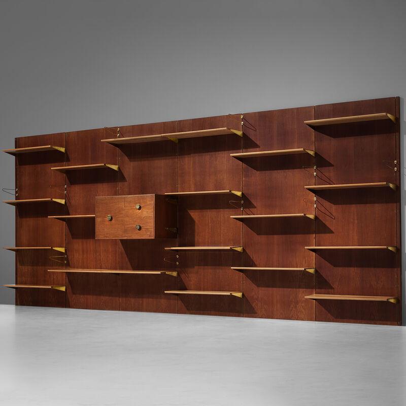 Finn Juhl, 'Large Finn Juhl Wall Unit for Bovirke in Teak', 1950s, Design/Decorative Art, Teak, pine,  brass, MORENTZ