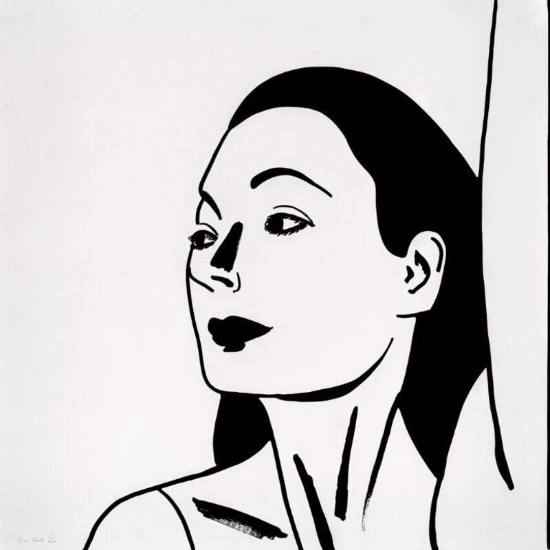 Alex Katz, 'Alex Katz, Laura 2', 2018, Print, Etching on fine art paper, Oliver Cole Gallery
