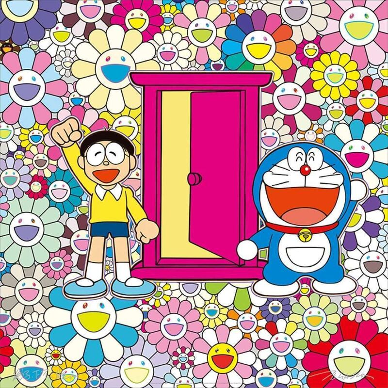 Takashi Murakami, 'We Came to the Field of Flowers Through Anywhere Door (Dokodemo Door)!', 2019, Print, Offset print, Lougher Contemporary