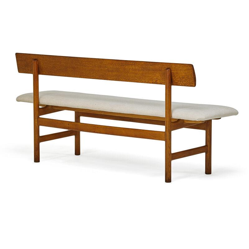 Börge Mogensen, 'Bench, Denmark', 1960s, Design/Decorative Art, Oak, Upholstery, Rago/Wright/LAMA
