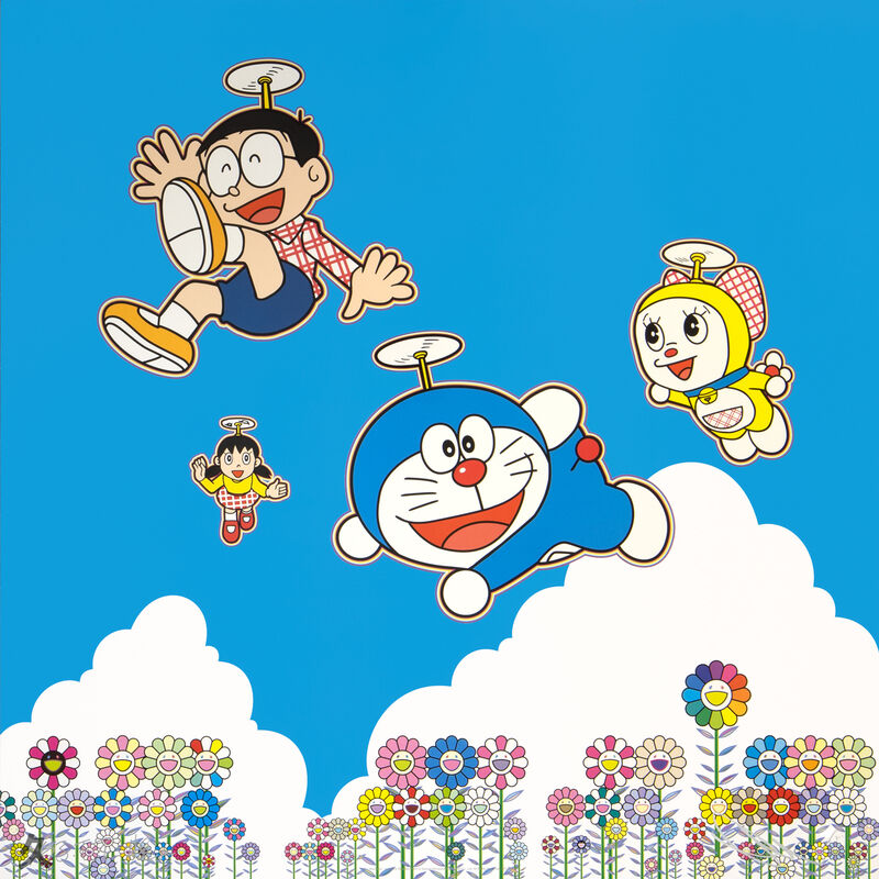 Takashi Murakami, 'Doraemon: So Much Fun, Under the Blue Sky', 2020, Print, Offset Lithograph, Kumi Contemporary / Verso Contemporary