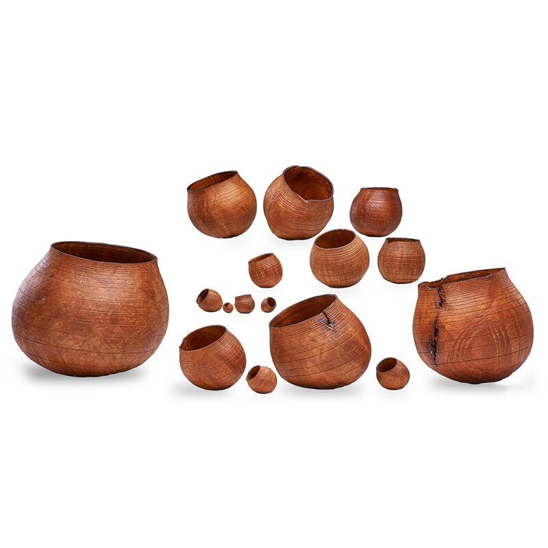 Christian Burchard, 'Set Of Sixteen Nesting Baskets, Ashland, OR', 1999, Design/Decorative Art, Madrone Burl, Rago/Wright
