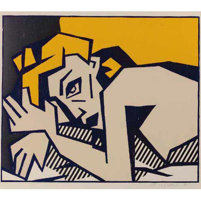 Roy Lichtenstein, 'RECLINING NUDE', 1980, Print, Woodcut With Embossing in Colors, Marcel Katz Art