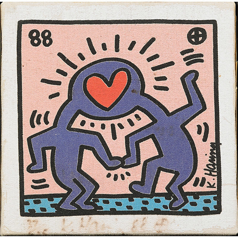 Keith Haring, 'Untitled (Wedding Invitation)', 1988, Print, Screenprint in colors on canvas, Rago/Wright