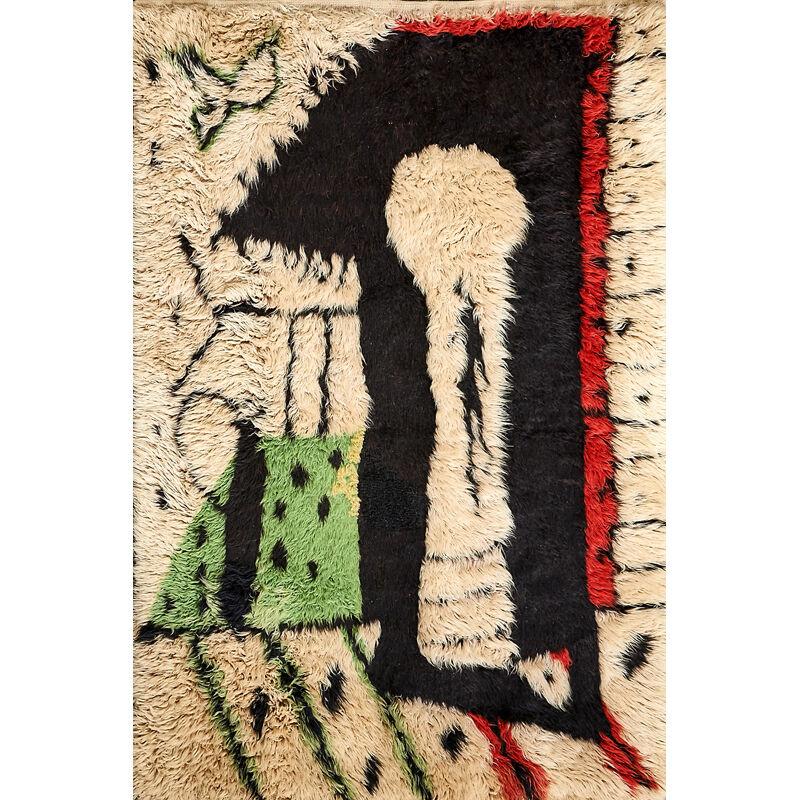 Surrure, 'La Serrure (The Lock) Tapestry, France', 1950s, Textile Arts, Wool, Rago/Wright