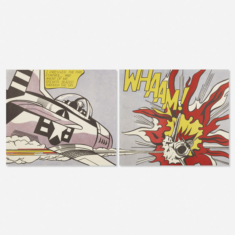 Roy Lichtenstein, 'Whaam! (diptych)', 1967, Print, Offset lithograph in colors, Rago/Wright
