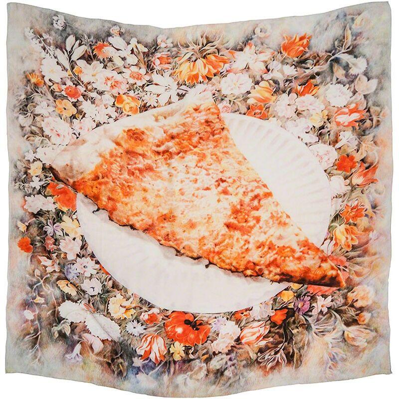 Eric Yahnker, 'Cheese Slice on Garland', 2012, Textile Arts, Digital printed silk tapestry, LRRH_