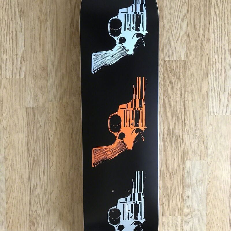 "Andy Warhol, 'ANDY WARHOL ""GUNS"" TRIPTYCH SKATE DECKS LIMITED EDITION', 2015, Design/Decorative Art, Maple wood, Arts Limited"