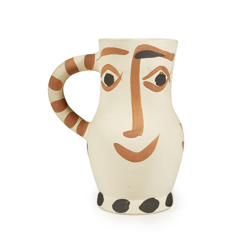 Pablo Picasso, 'Four Faces', 1959, Design/Decorative Art, White earthenware clay vase with decoration in engobes and glazed inside, Freeman's