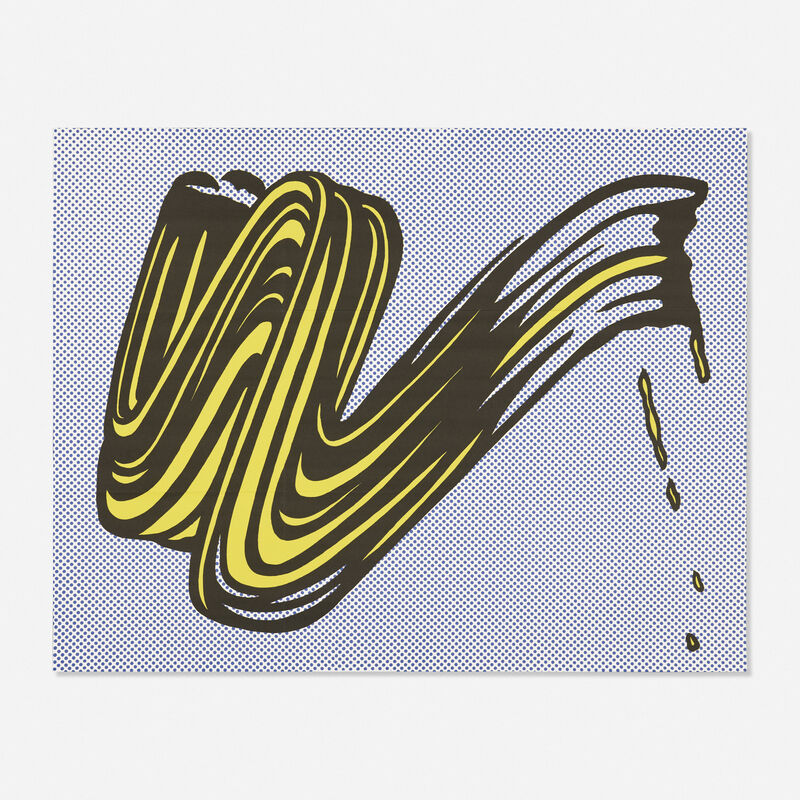 Roy Lichtenstein, 'Brushstroke', 1965, Print, Offset lithograph in colors (mailer), Rago/Wright/LAMA