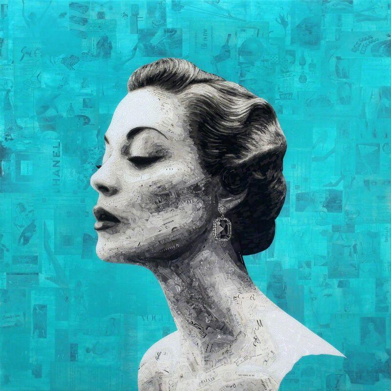 Jay Kelly (b. 1975), 'Beauty Reveals', 2016, Mixed Media, Collage, Acrylic and Resin on Wood Panel, Axiom Contemporary