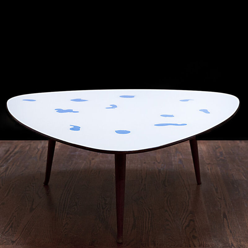 Osvaldo Borsani, 'Rare coffee table', ca. 1950, Design/Decorative Art, Reverse hand-painted glass, Nicholas Kilner