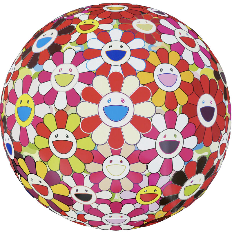 Takashi Murakami, 'Flowerball (3D) Goldfish Colours', 2008, Print, Offset Lithograph, Pinto Gallery