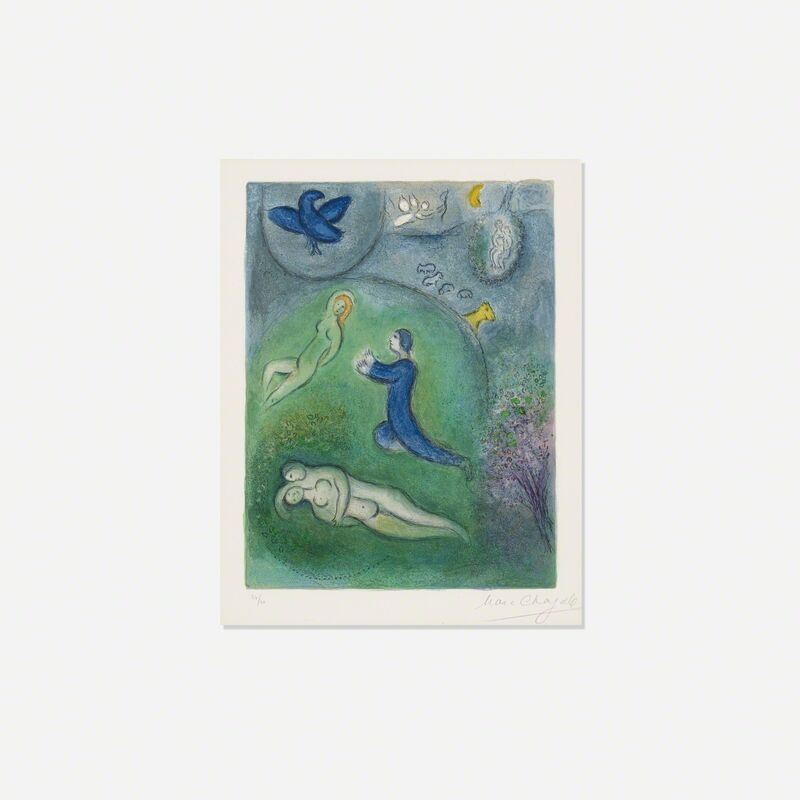 Marc Chagall, 'Daphnis et Lycenion (from Daphnis et Chloe)', 1961, Print, Lithograph on Arches wove paper, Rago/Wright
