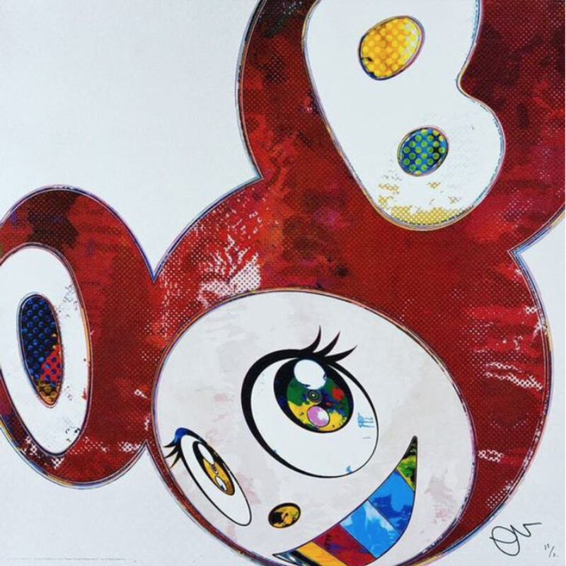 Takashi Murakami, 'AND THEN x6 (RED DOTS THE SUPERFLAT METHOD) ', 2016, Print, Offset lithograph with cold foil stamp and high gloss varnishing on UV paper, Marcel Katz Art