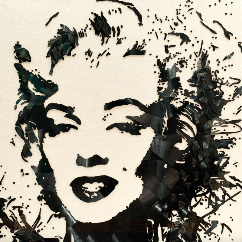 Mr. Brainwash, 'Marilyn Monroe', 2018, Mixed Media, Broken vinyl records on canvas, Taglialatella Galleries