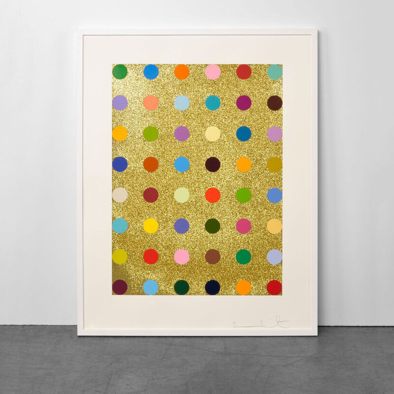 Damien Hirst, 'Aurous Iodide (with Gold Glitter)', 2009, Print, Silkscreen with Gold Glitter, Weng Contemporary