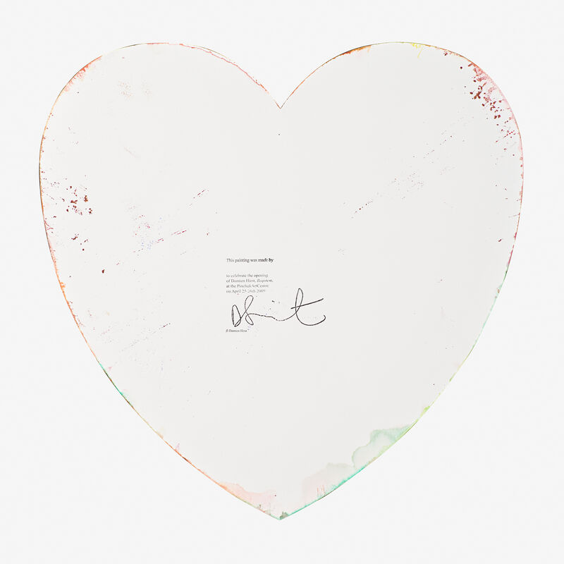 Damien Hirst, 'Heart Spin Painting (Created at Damien Hirst Spin Workshop)', 2009, Painting, Acrylic on paper, Rago/Wright