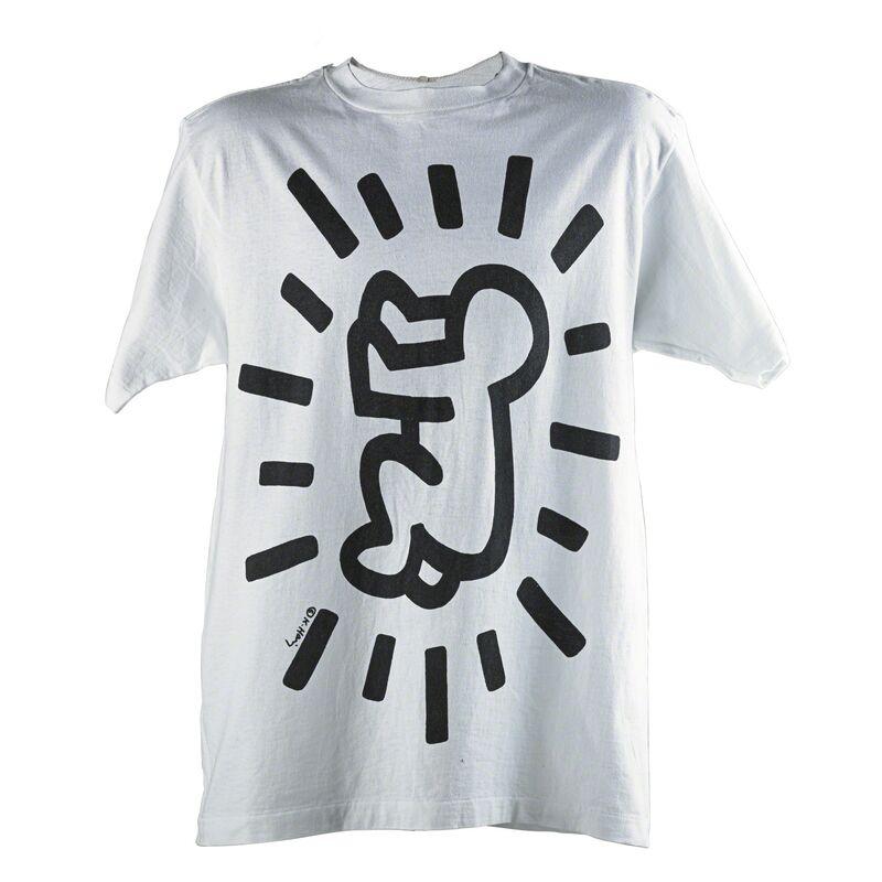 Keith Haring, 'Baby and Barking dog', Print, Screenprint on Anvil cotton T-shirt, Rago/Wright