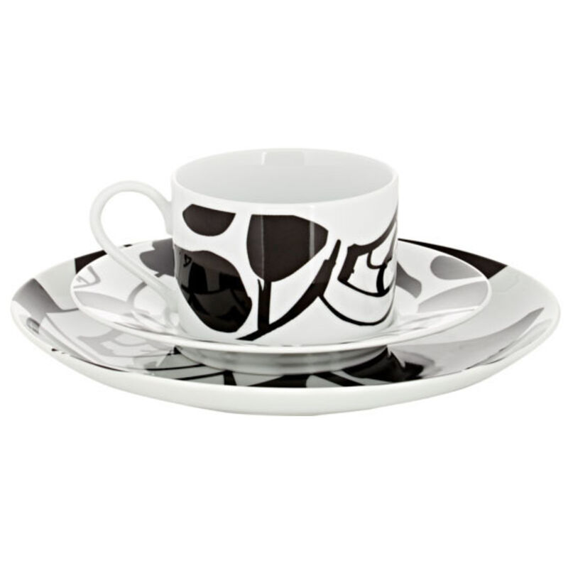 Alex Katz, 'Dessert Plate, Cup & Saucer Set', 2015, Design/Decorative Art, Porcelain, Artware Editions
