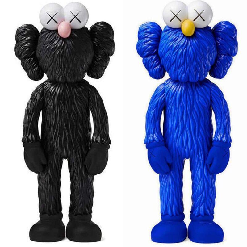 KAWS, 'KAWS BFF vinyl Companion Set of Two: (KAWS Black and Blue BFF) ', 2017, Sculpture, Medium: Painted Vinyl Cast Resin figures, Lot 180