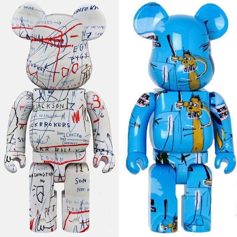 Jean-Michel Basquiat, 'Basquiat Bearbrick 400% Companions Set of 2 (Basquiat BE@RBRICK)', ca. 2018, Ephemera or Merchandise, Vinyl Figurines, Lot 180