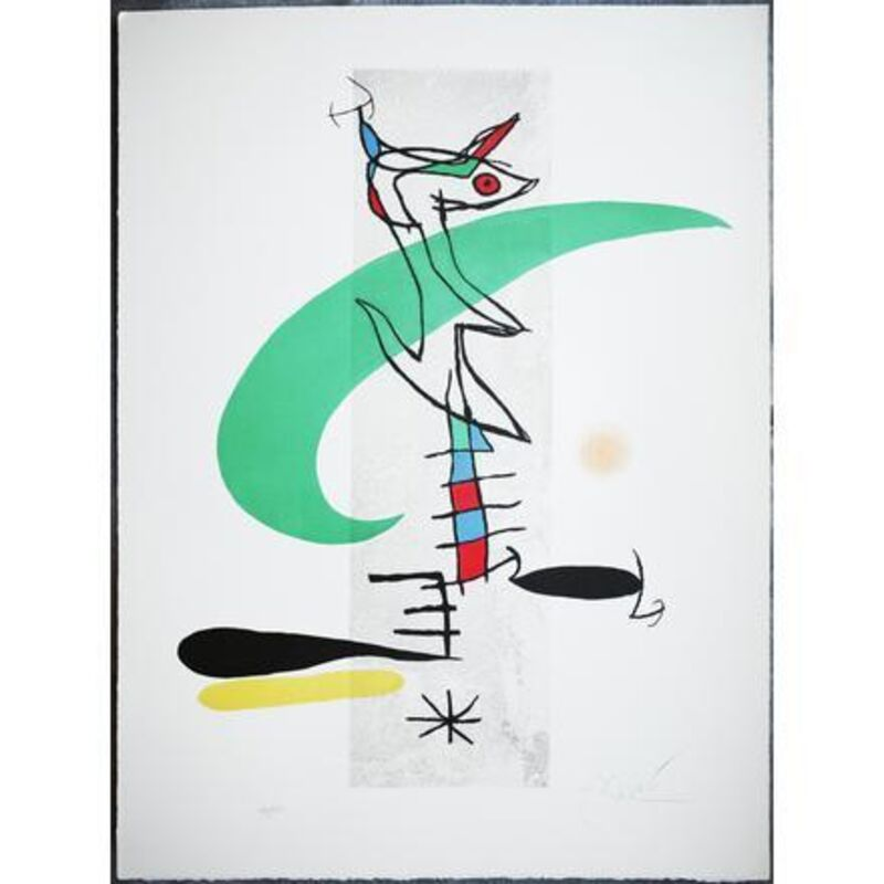 """Joan Miró, 'La Translunaire (D. 659)', 1974, Print, Etching with aquatint in colors, on Arches watermark """"Maeght"""", Upsilon Gallery"""