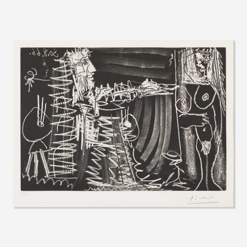 Pablo Picasso, 'Dans l'Atelier', 1966, Print, Etching and aquatint, Rago/Wright