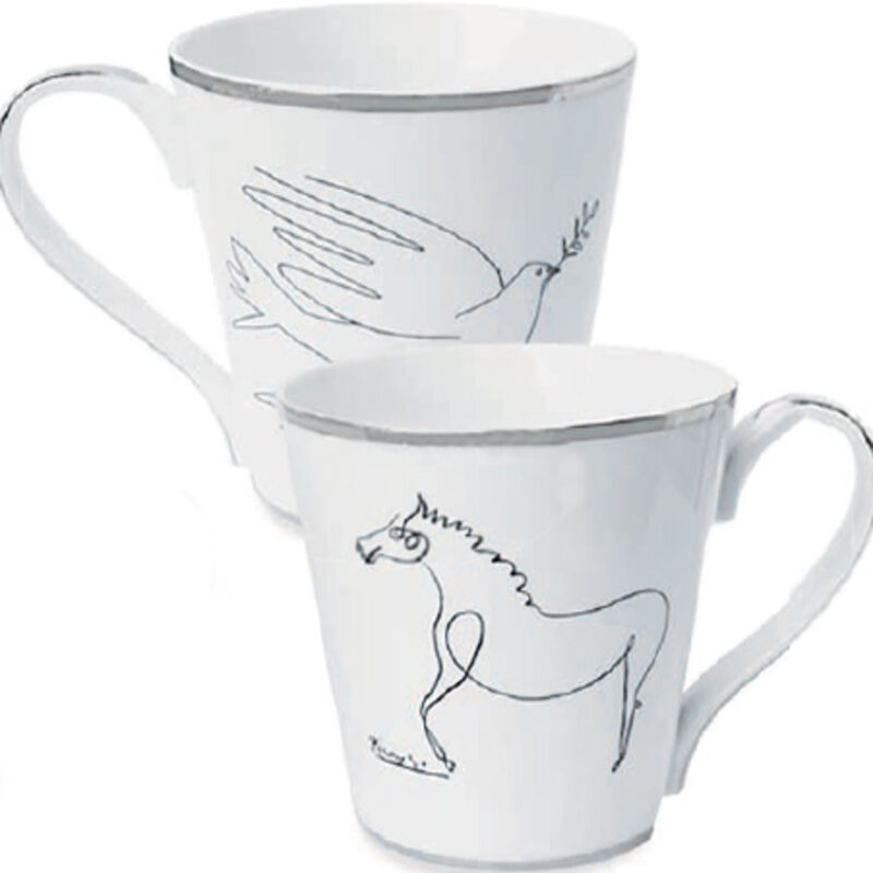 Pablo Picasso, 'Horse and Dove Mug Set', 2016, Design/Decorative Art, Porcelain with silver trim, Artware Editions