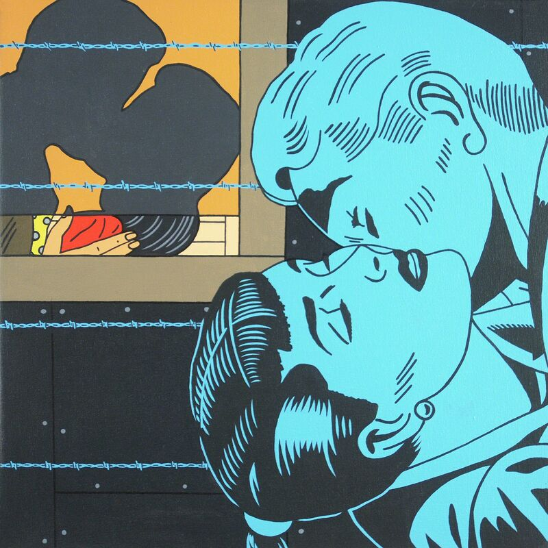 Roger Shimomura, 'Great American Muse #47', 2015, Painting, Acrylic on canvas, Greg Kucera Gallery