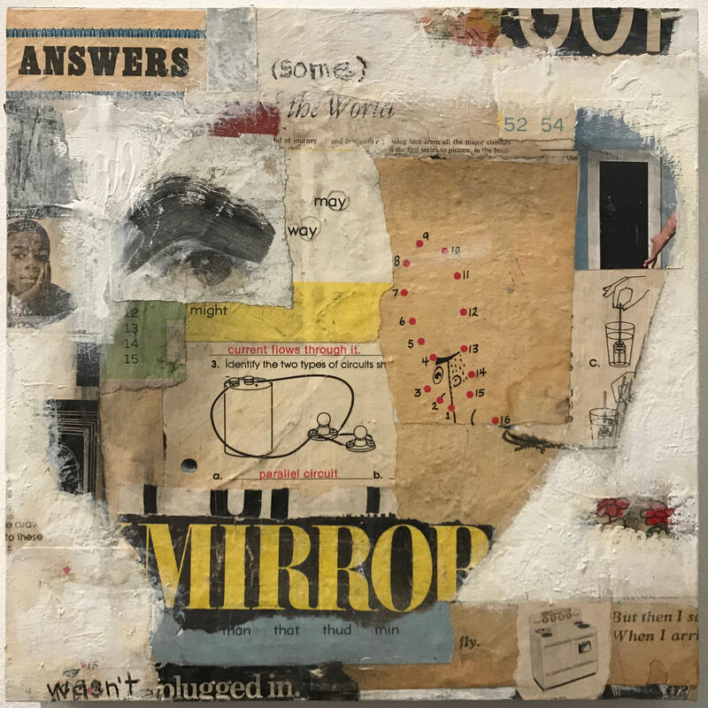 Casebeer, 'Answers (Some)', 2021, Mixed Media, Collage and paint, McVarish Gallery