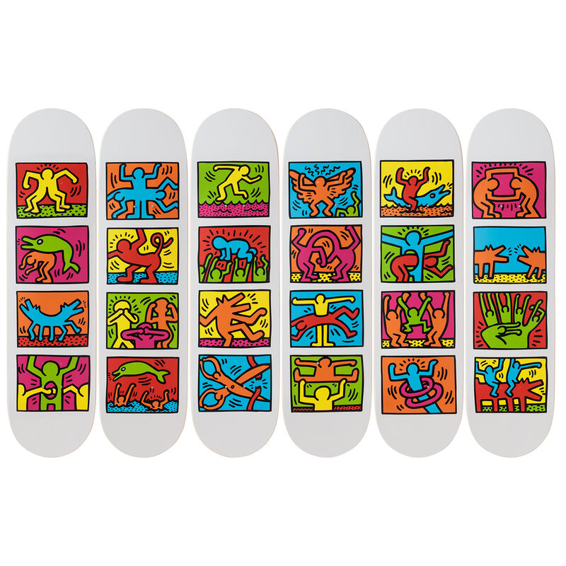 Keith Haring, 'Retrospect Skateboard Decks', 2019, Ephemera or Merchandise, 7-ply Canadian Maplewood with screen-print, Artware Editions