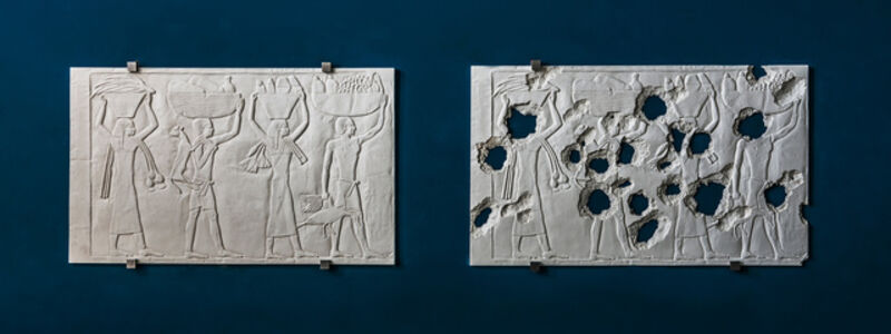 Piers Secunda, 'ISIS Bullet Hole Painting (Egyptians) ', 2017
