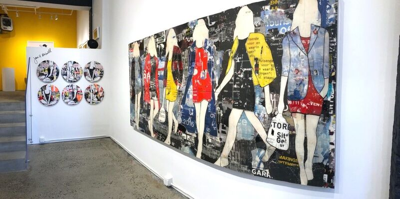 """THE ART OF FASHION"" Featuring JANE MAXWELL in the Main Gallery;  and PEDRO BONNIN in the Projects Space - New York, installation view"