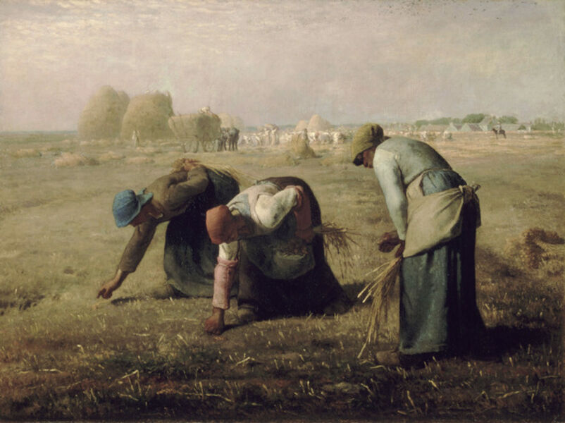 Jean-François Millet, 'The Gleaners', 1857