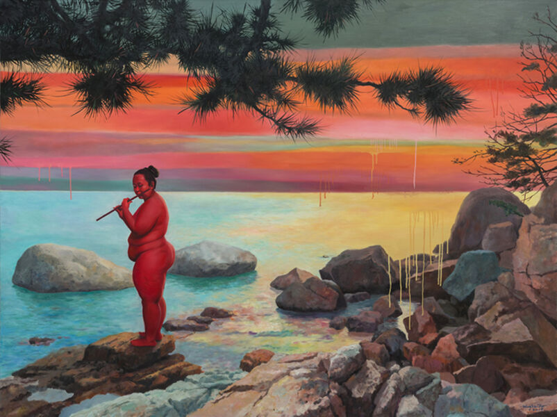 Wang Xiaobo, 'Play in the flute', 2019