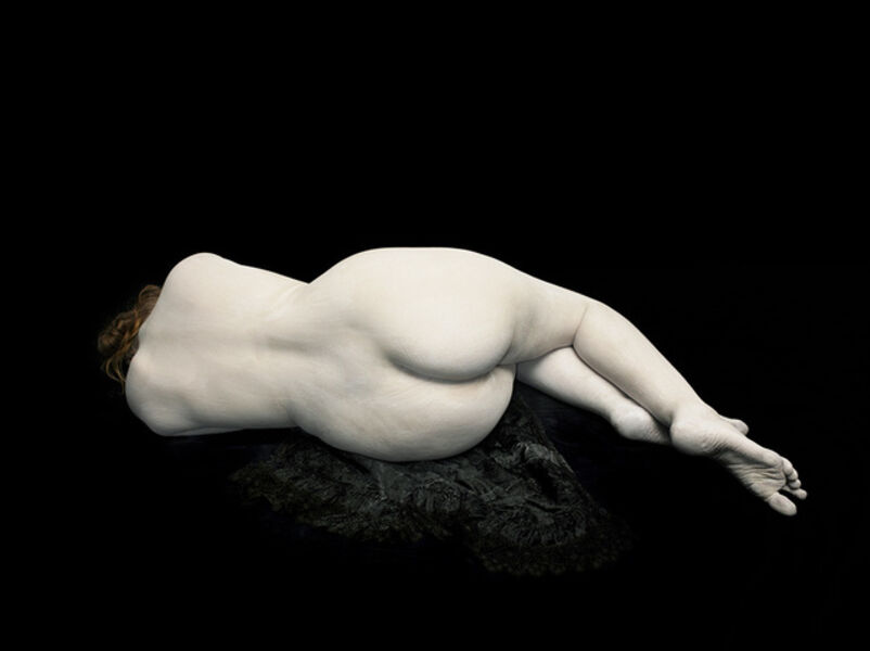 Nadav Kander, 'Audrey lying away on black lace', 2011